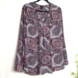 5x$25 Ann Taylor long sleeve paisley shirt size L
